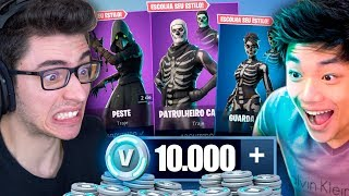 FLAKES GAVE ME 10000 V-BUCKS TO BUY ALL THE SKINS OF HALLOWEEN!! FORTNITE: BATTLE ROYALE