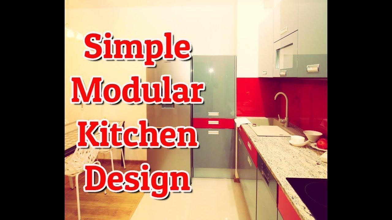 Simple Modular Kitchen Simple Modular Kitchen Design India Youtube