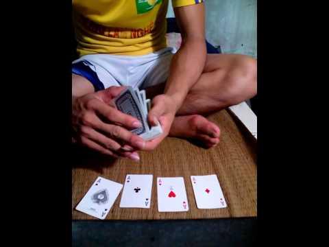 ảo thật hay, học làm ảo thuật đơn giản với bài tây,  hướng dẫn chi tiết,
