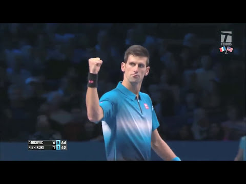 Djokovic vs. Nishikori - World Tour Finals 2015 - RR (HD)