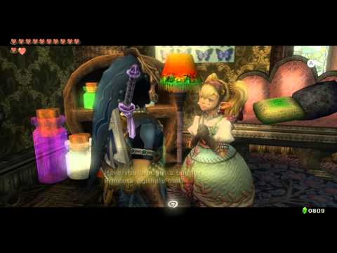 Zelda Twlight Princess HD Reward For ALL Bugs Agitha Castle