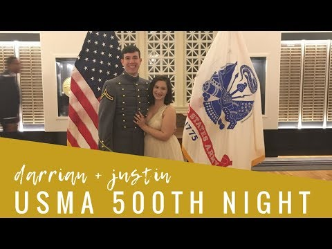 USMA 2018 500th Night | WEST POINT MILITARY FORMAL | Darrian and Justin | VLOG 46