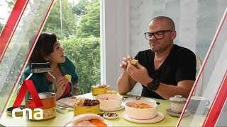 Heston Blumenthal tries Singapore hawker food and durian mooncake | CNA Lifestyle