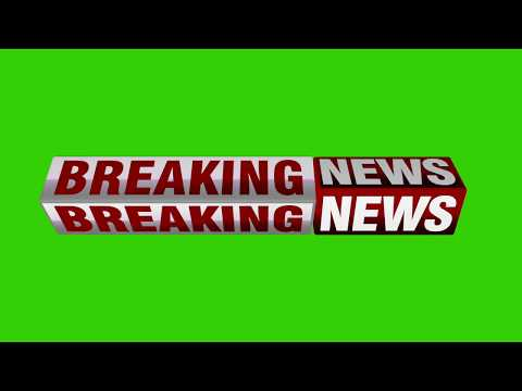 3D Animated Breaking News Band Green Screen - Free News Green Screen video - Breaking News Graphics