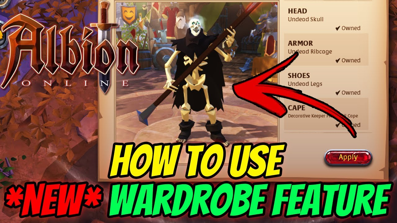 Albion Online New Wardrobe Feature How To Use Youtube