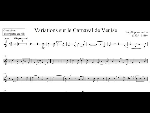 ♫♬ Arban - Carnival of Venice [Piano Accompaniment HD]