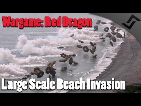Wargame: Red Dragon - Large Scale Beach Invasion of North Korea (1v1 MP Scenario)