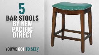 Top 10 New Pacific Direct Bar Stools [2018]: Elmo Bonded Leather Counter Stool,Cinnamon Brown