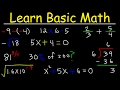 Math Videos How To Learn Basic Arithmetic Fast Online Tutorial Lessons
