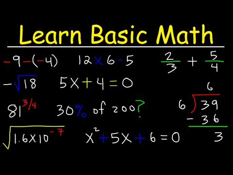 Math Videos:  How To Learn Basic Arithmetic Fast – Online Tutorial Lessons