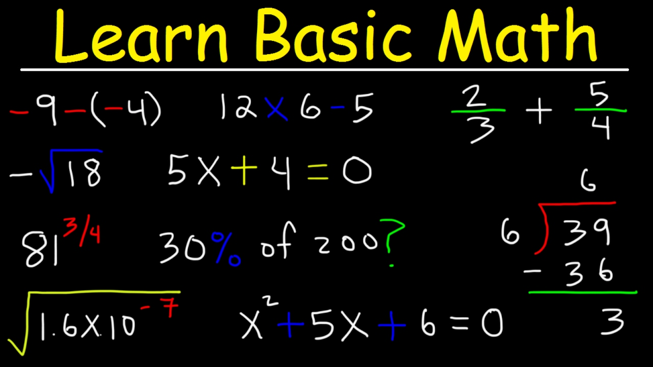 Math Videos  How To Learn Basic Arithmetic Fast
