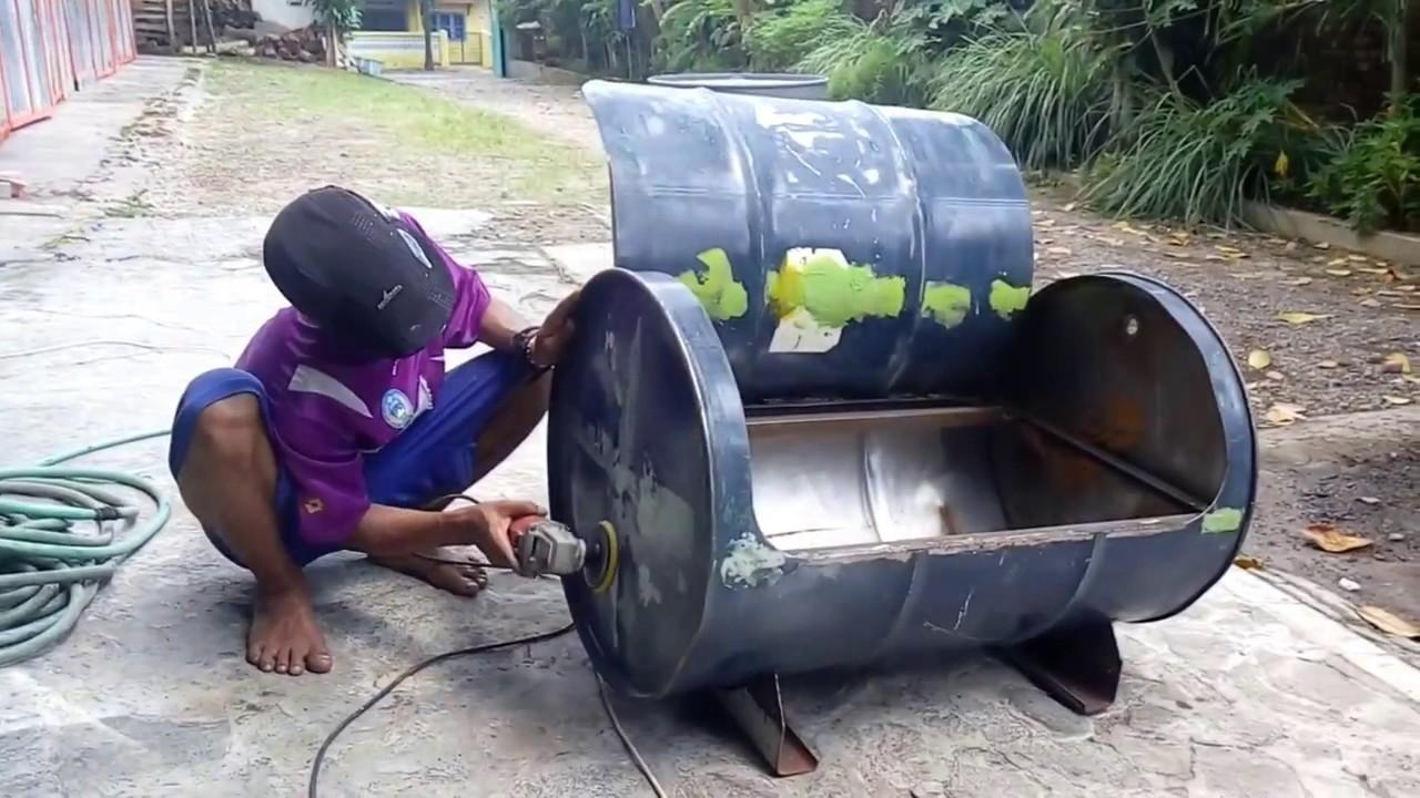 Kursi Unik Bahan Drum Bekas Cocok Untuk Interior Rumah Cute766