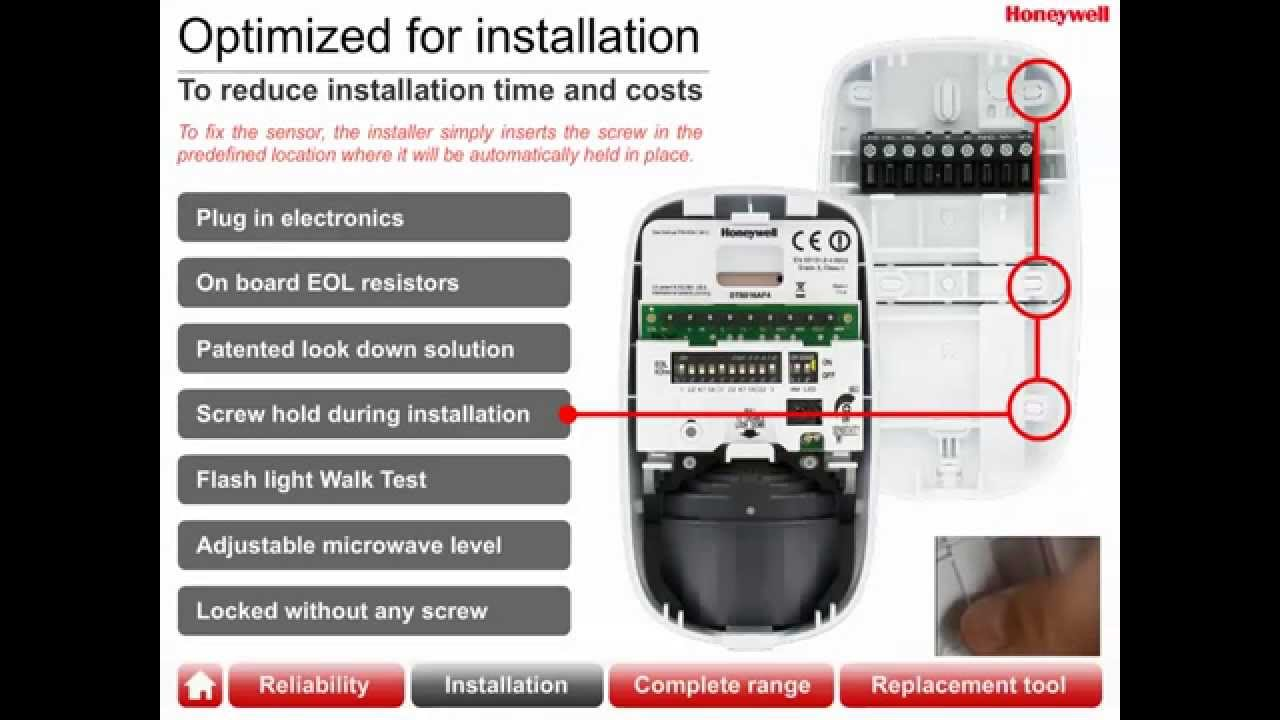 maxresdefault honeywell wired motion sensors youtube honeywell pir sensor wiring diagram at webbmarketing.co