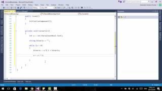 Como convertir decimal a binario en C#