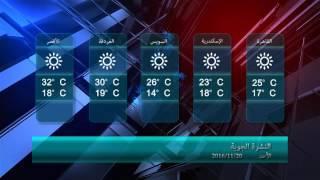 بالفيديو..حالة الطقس اليوم الأحد 20/11/2016 فى مصر و الدول العربية