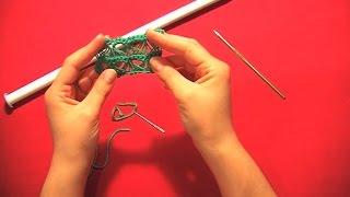 """Πλεξη """"Σκουποξυλο"""" με Βελονακι/ Broomstick Lace Crochet (english subs)"""