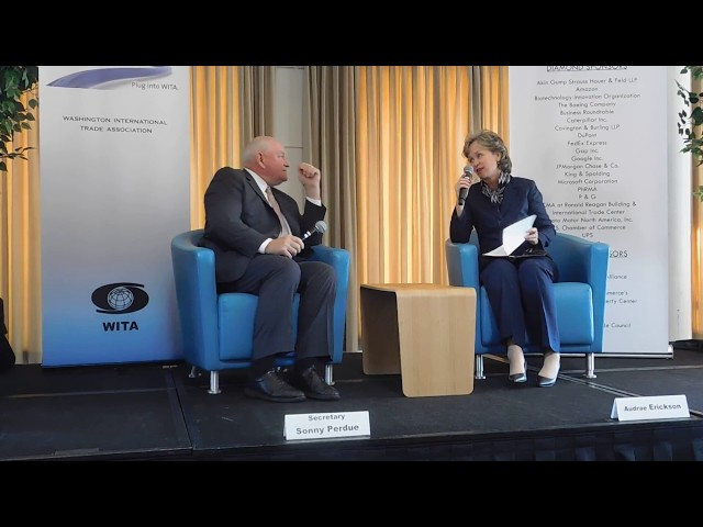 10/4/17 -  US Agriculture Trade Agenda: Secretary Sonny Perdue pt. 2