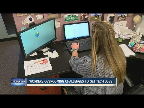 Workers overcoming challenges to get tech jobs