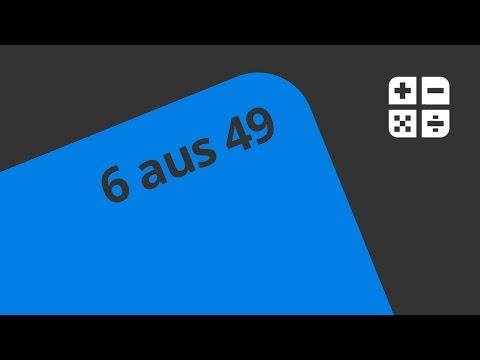Wie hoch ist die Wahrscheinlichkeit bei 6 aus 49? | Mathematik | Stochastik