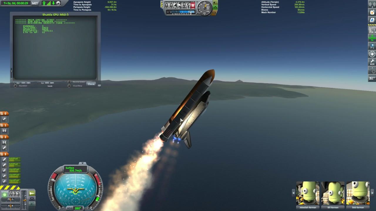 Kerbal Space Program - Shuttle clone script using kOS *work in progress*