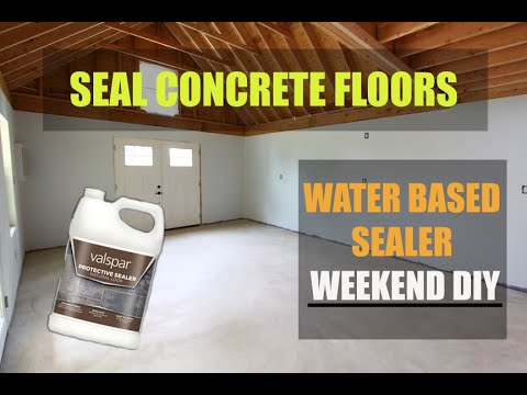 How To Seal Concrete Floors And Garage