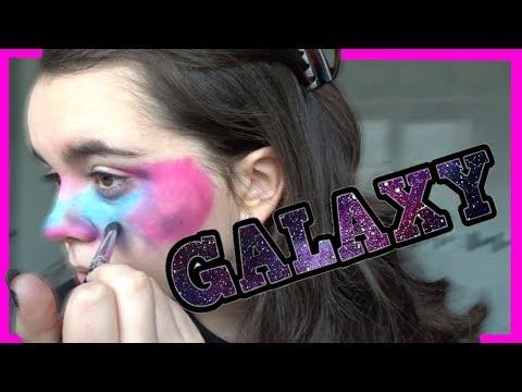 I Tried Following A Galaxy Makeup Tutorial (and Broke My Bath..)