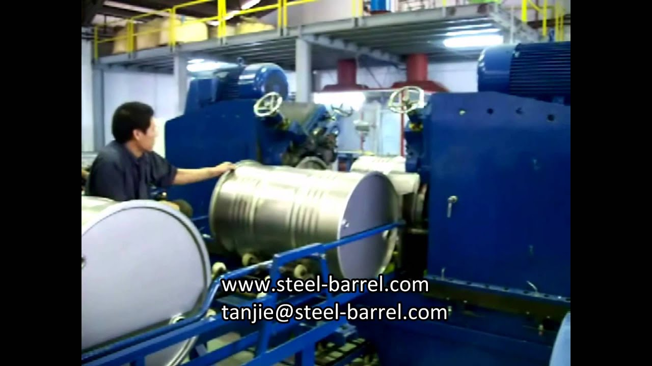high speed steel drum production steel barrel forming machine youtube. Black Bedroom Furniture Sets. Home Design Ideas