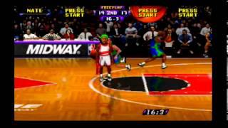 NBA Hangtime (N64) Game #4 of 29 - Bulls (Me) vs. Mavericks (CPU)
