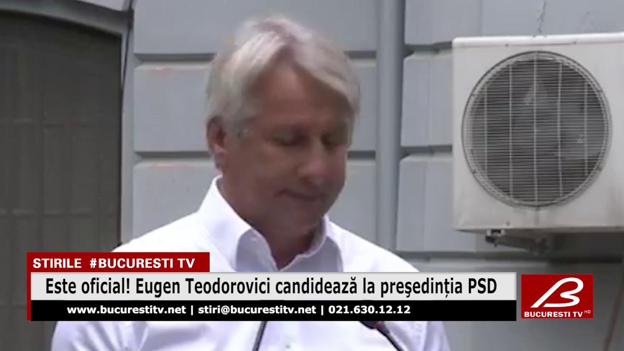 Este oficial! Eugen Teodorovici candidează la preşedinția PSD