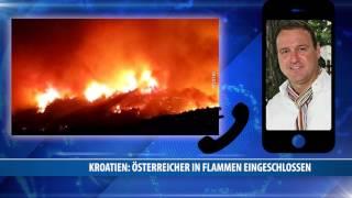 Kroatien: Österreicher In Flammen Eingeschlossen