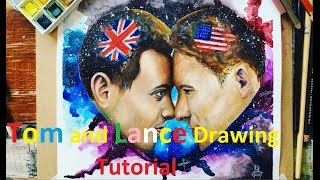 Tom Daley and Lance Black drawing/painting Tutorial