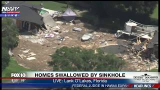 WOW: GIANT Sinkhole Swallows Homes, Continues to Grow in Land O