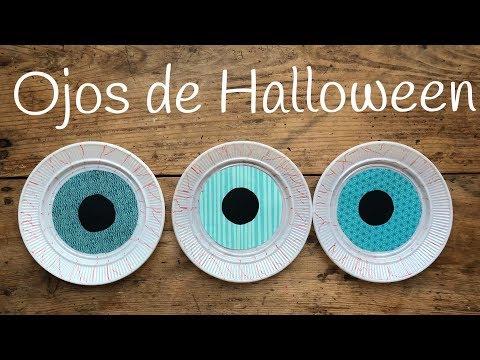 Ojos de terror, manualidades de halloween para niños