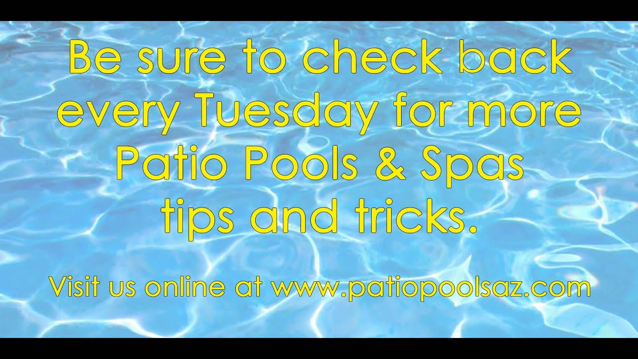 Spa Cleaning Tip Tuesday - YouTube