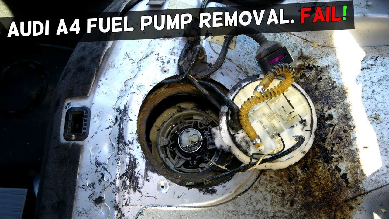 Audi A4 B6 Fuel Pump Removal Fail Youtube
