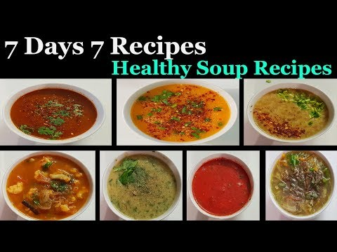 Weight Loss Soup Recipes In Tamil ||  7 Days 7 Recipes Healthy Soup Varieties In Tamil