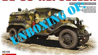 Unboxing Of: MiniArt #35145 BZ-38 Refueller Truck 1:35