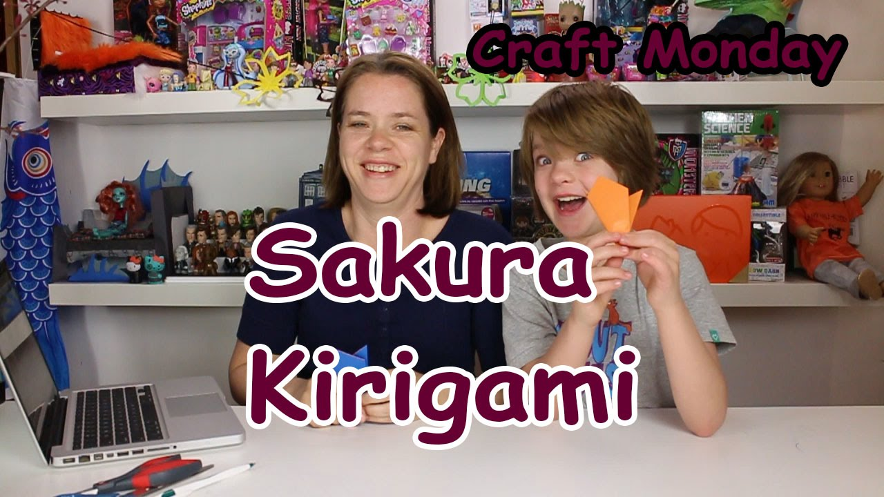 Papercraft How to make Sakura Kirigami (Cherry Blossom Paper Cutting) Craft Monday- Day 668 | ActOutGames