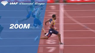 Andre De Grasse shows off his closing speed in the 200m sprint in Rabat - IAAF Diamond Lea ...