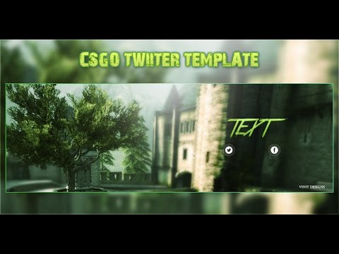 FREE CSGO Twitter Banner Template Download