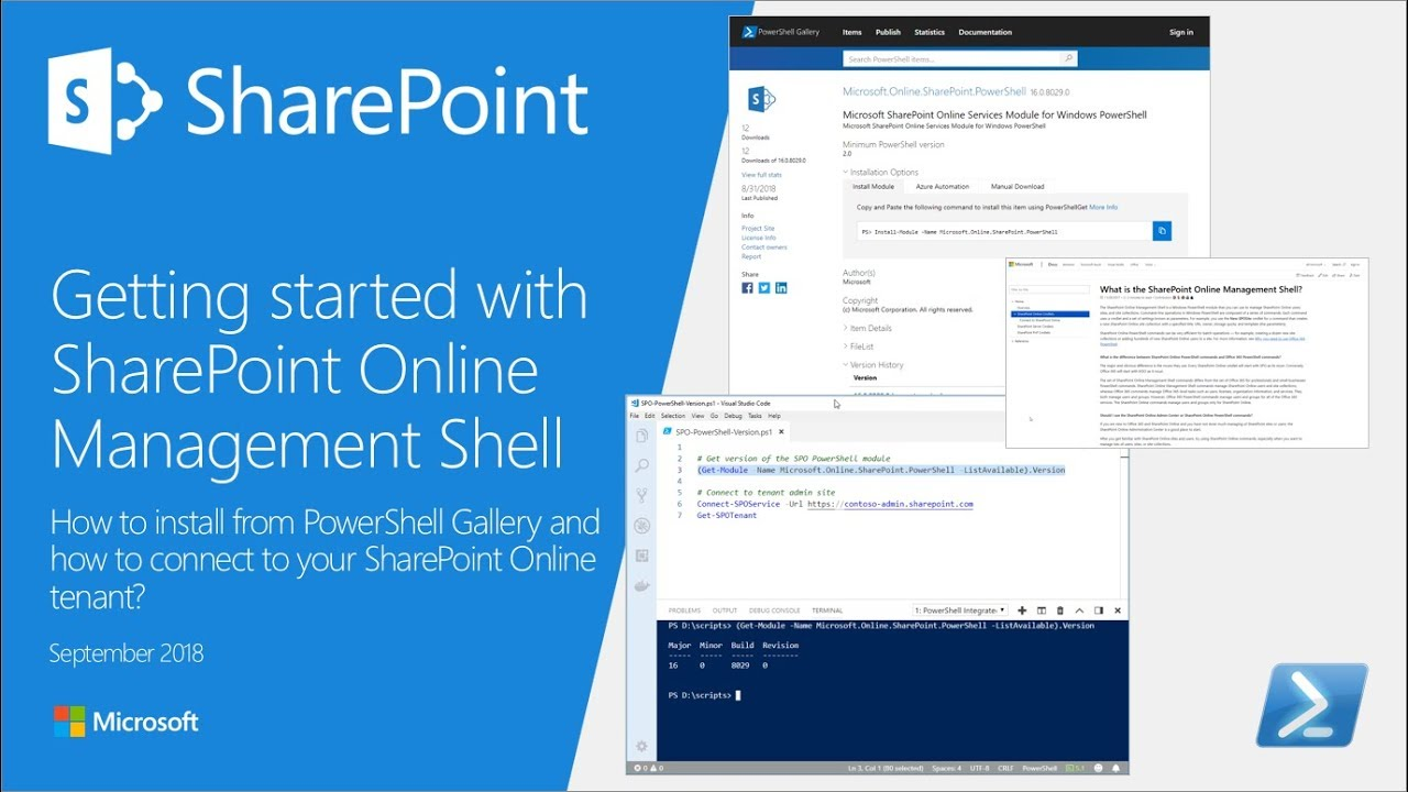 Getting started with SharePoint Online Management Shell