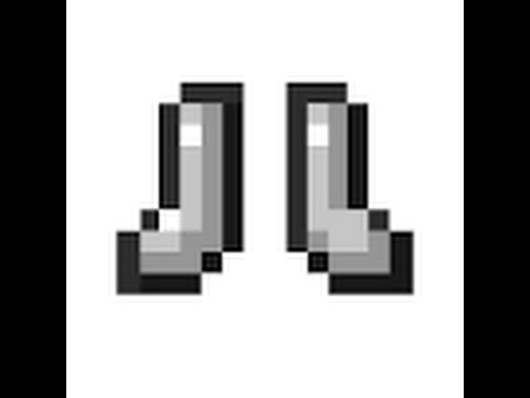 Minecraft how to build iron boots (pixel art) , YouTube