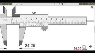 Nonio (Vernier) en milímetros 0.05 mm