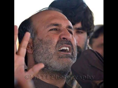 Asghar khan achakzai on the funeral of his brother shaheed askar khan advocate..