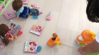 おそうじごっこ レミンちゃんソランちゃんが散らかした部屋をおそうじしよう!!Cleaning  House  Anpanman cleaner