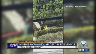 Missing woman found dead inside vehicle