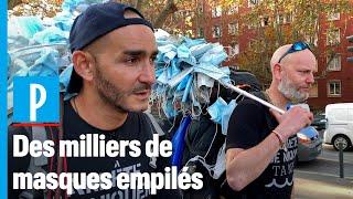Ils marchent de Marseille à Paris pour ramasser les masques jetés au sol