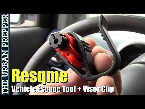 Resqme Escape Tool With Visor Clip Review (Vehicle Preps)