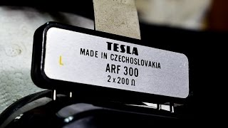 Tesla ARF 300 - stereo headphones ČSSR (new cable and connector needed) - No.4537