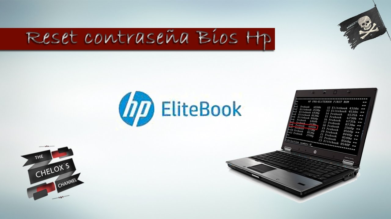 Reset Bios HP Elitebook con contraseña